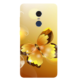 Golden Butterfly Printed Case Cover For Redmi Note 4 by Mobiflip