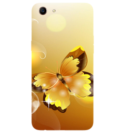 Golden Butterfly Printed Case Cover For OPPO A83 by Mobiflip