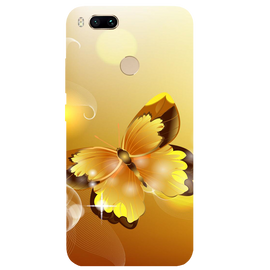 Golden Butterfly Printed Case Cover For Redmi MI A1 by Mobiflip