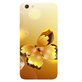 Golden Butterfly Printed Case Cover For OPPO F3 by Mobiflip