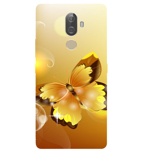 Golden Butterfly Printed Case Cover For Lenovo K8 Note Plus by Mobiflip