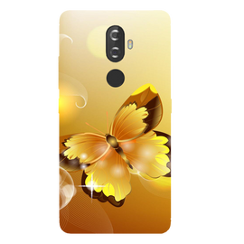 Golden Butterfly Printed Case Cover For Lenovo K8 Plus by Mobiflip