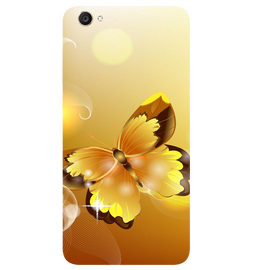 Golden Butterfly Printed Case Cover For VIVO Y55 by Mobiflip