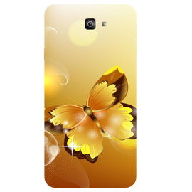 Golden Butterfly Printed Case Cover For Samsung J7 Prime 2 by Mobiflip