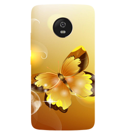 Golden Butterfly Printed Case Cover For Motorola G5 by Mobiflip