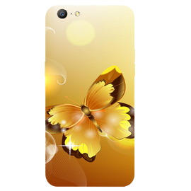 Golden Butterfly Printed Case Cover For OPPO A57 by Mobiflip