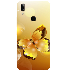 Golden Butterfly Printed Case Cover For VIVO V9 Youth by Mobiflip