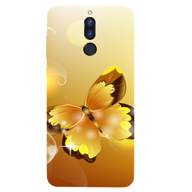 Golden Butterfly Printed Case Cover For HONOR P9I by Mobiflip