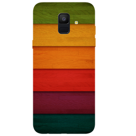 Multi Colour Strips Printed Case Cover For Samsung A6 by Mobiflip