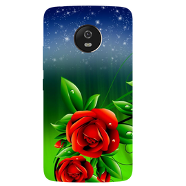 Red Rose Printed Case Cover For Motorola G5 by Mobiflip