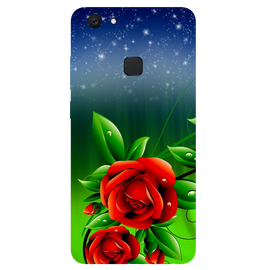 Red Rose Printed Case Cover For VIVO V7 Plus by Mobiflip