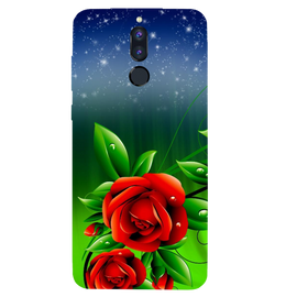 Red Rose Printed Case Cover For HONOR P9I by Mobiflip