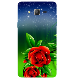Red Rose Printed Case Cover For Samsung J2 2016 by Mobiflip