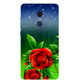 Red Rose Printed Case Cover For Redmi Note 4 by Mobiflip