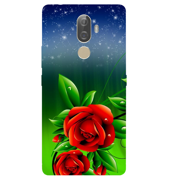 Red Rose Printed Case Cover For Lenovo K8 Note Plus by Mobiflip