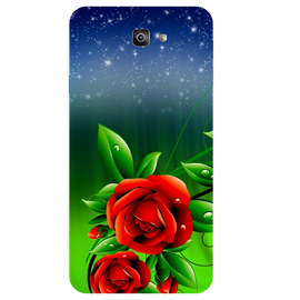 Red Rose Printed Case Cover For Samsung J7 Prime 2 by Mobiflip