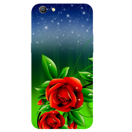 Red Rose Printed Case Cover For OPPO A57 by Mobiflip