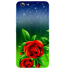 Red Rose Printed Case Cover For VIVO Y53 by Mobiflip