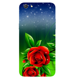 Red Rose Printed Case Cover For OPPO F3 by Mobiflip