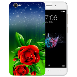 Red Rose Printed Case Cover For VIVO Y55 by Mobiflip