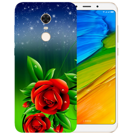 Red Rose Printed Case Cover For Redmi 5 Plus by Mobiflip