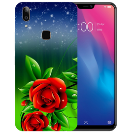 Red Rose Printed Case Cover For VIVO V9 Youth by Mobiflip