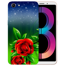 Red Rose Printed Case Cover For OPPO A83 by Mobiflip