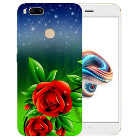 Red Rose Printed Case Cover For Redmi MI A1 by Mobiflip