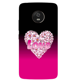 Flower Heart Printed Case Cover For Motorola G5 by Mobiflip