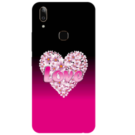 Flower Heart Printed Case Cover For VIVO V9 Youth by Mobiflip