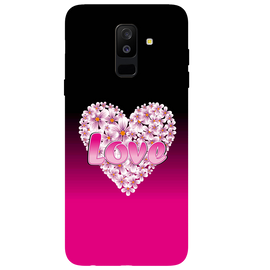Flower Heart Printed Case Cover For Samsung C7 Pro by Mobiflip