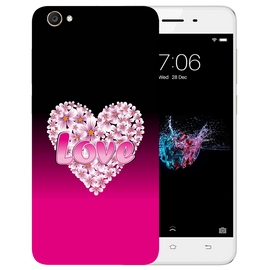 Flower Heart Printed Case Cover For VIVO Y55 by Mobiflip