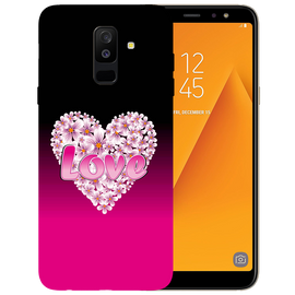 Flower Heart Printed Case Cover For Samsung A6 Plus by Mobiflip
