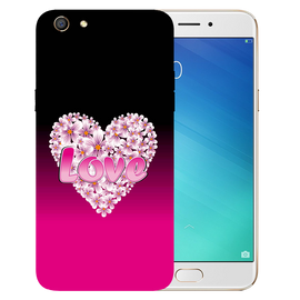 Flower Heart Printed Case Cover For OPPO F3 by Mobiflip