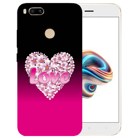 Flower Heart Printed Case Cover For Redmi MI A1 by Mobiflip