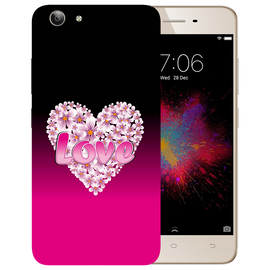 Flower Heart Printed Case Cover For VIVO Y53 by Mobiflip