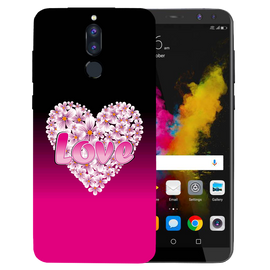 Flower Heart Printed Case Cover For HONOR P9I by Mobiflip
