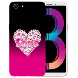 Flower Heart Printed Case Cover For OPPO A83 by Mobiflip