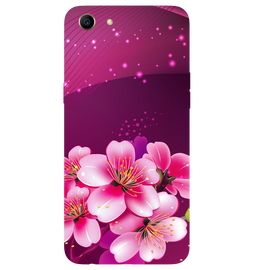 Shining Flowers Printed Case Cover For OPPO A83 by Mobiflip