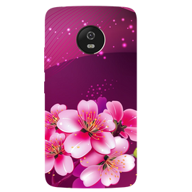 Shining Flowers Printed Case Cover For Motorola G5 by Mobiflip