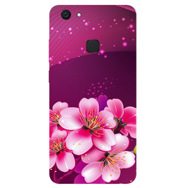 Shining Flowers Printed Case Cover For VIVO V7 Plus by Mobiflip