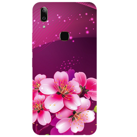 Shining Flowers Printed Case Cover For VIVO V9 Youth by Mobiflip