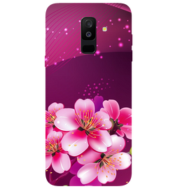 Shining Flowers Printed Case Cover For Samsung A6 Plus by Mobiflip
