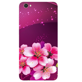 Shining Flowers Printed Case Cover For VIVO Y55 by Mobiflip