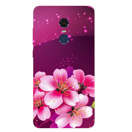 Shining Flowers Printed Case Cover For Redmi Note 4 by Mobiflip