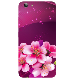 Shining Flowers Printed Case Cover For VIVO Y53 by Mobiflip