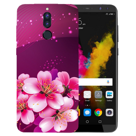Shining Flowers Printed Case Cover For HONOR P9I by Mobiflip