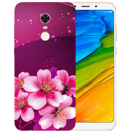 Shining Flowers Printed Case Cover For Redmi 5 Plus by Mobiflip