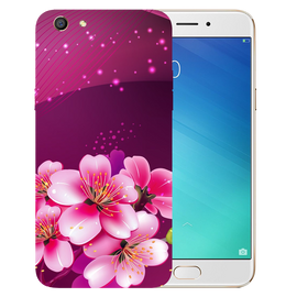 Shining Flowers Printed Case Cover For OPPO F3 by Mobiflip