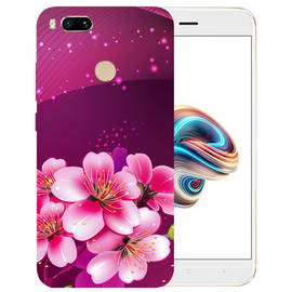 Shining Flowers Printed Case Cover For Redmi MI A1 by Mobiflip